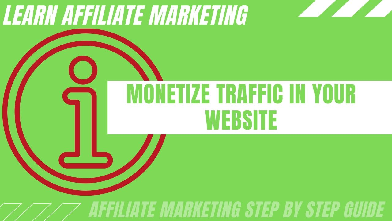 Monetize traffic in your website with this 3-step process